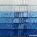 """6 vnt. vonios 70x140 cm. rankšluosčių """"Mėlynasis Smaragdas"""""""