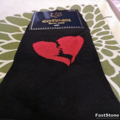 """Linksmosios vyriškos kojinės """"Love"""""""