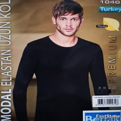 Modal ir medvilnės pluošto marškinėliai ilgomis rankovėmis