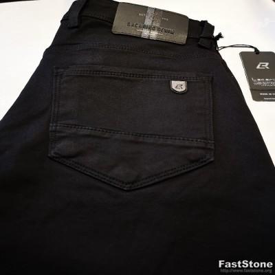 SlimFit stiliaus juodi vyriški džinsai