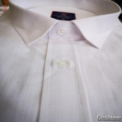 Marškiniai balti trumpomis rankovėmis plono lininio audinio